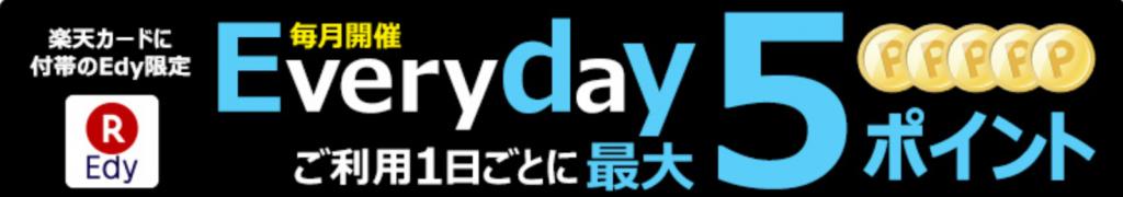 楽天 Everyday5ポイント還元キャンペーン