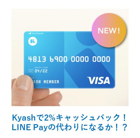 Kyashで2%キャッシュバック!メリット、デメリットを徹底解説!