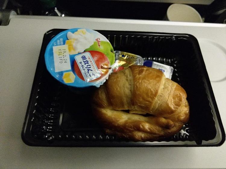 ユナイテッド航空 機内食 パン