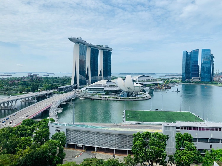 ザ・リッツ・カールトン・ミレニア・シンガポール 部屋からの眺め(昼)