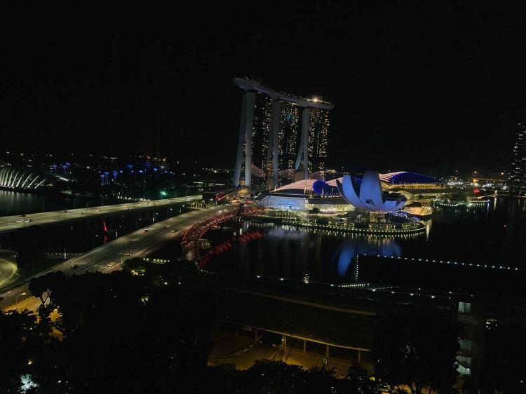 ザ・リッツ・カールトン・ミレニア・シンガポール 部屋からの眺め(夜)2