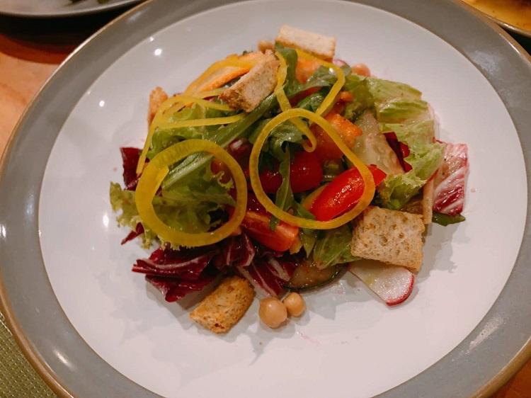 エレメントバイウェスティン・バリ・ウブド 夕食 サラダ