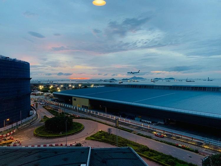 香港スカイシティ・マリオットホテル 部屋からの眺め