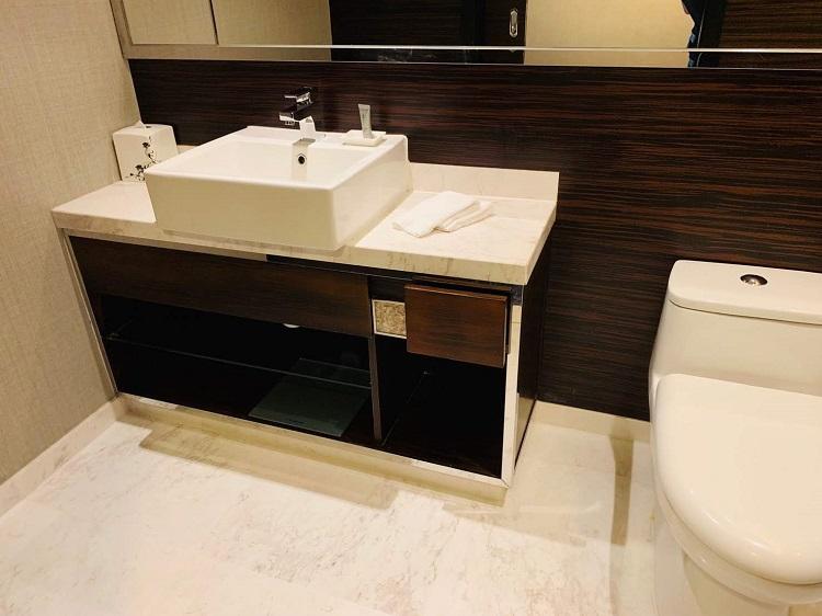 香港スカイシティ・マリオットホテル 洗面台