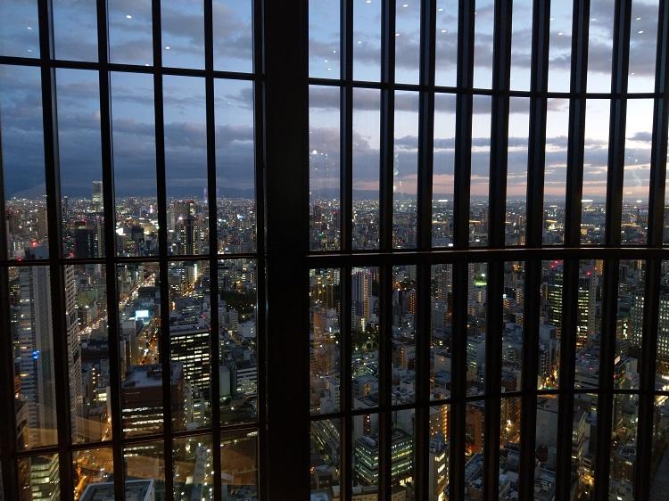 コンラッド大阪 40階からの夜景1