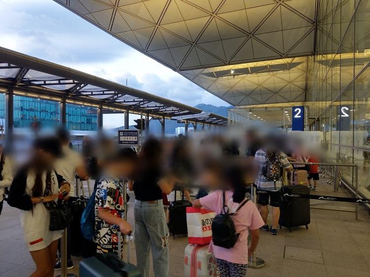 香港空港 入場制限