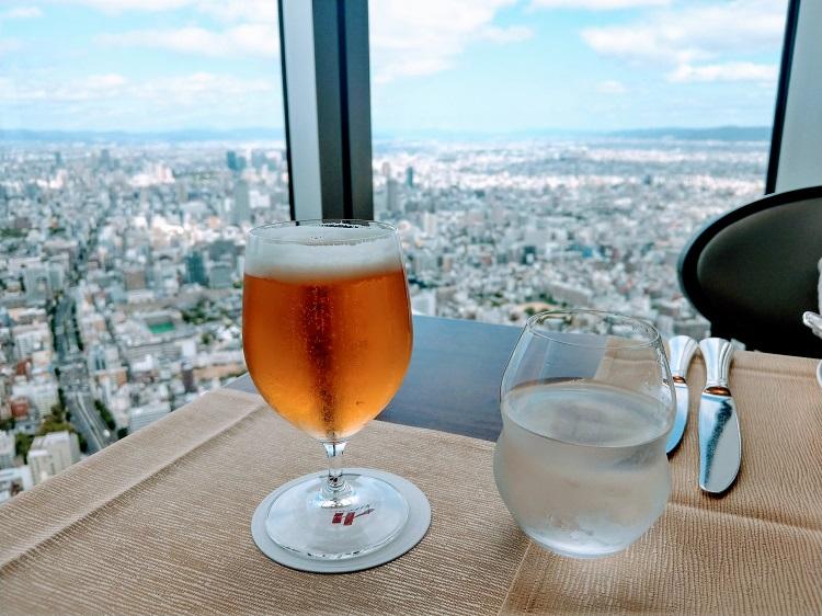 大阪マリオット都ホテル ZK ビールと景色