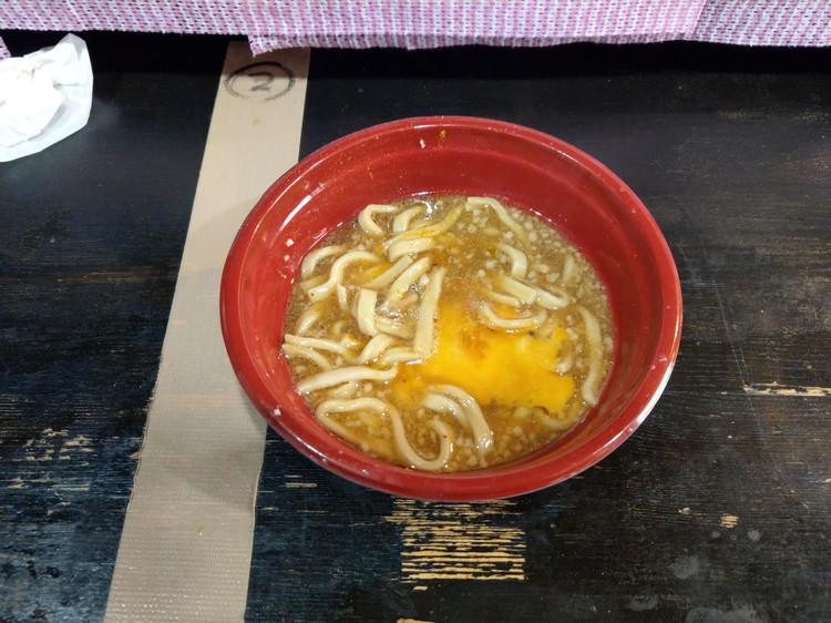まさ屋 かけラーメン A麺 卵プラス