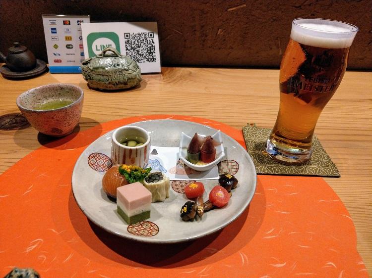 四季喰 のむら 先付とビール
