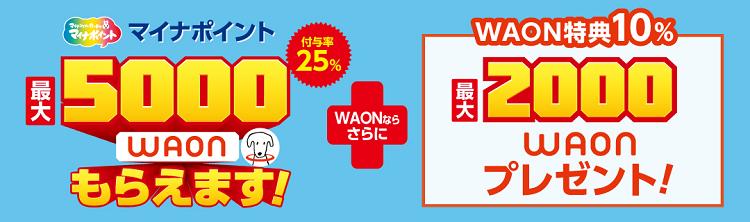 マイナポイント関連キャンペーン WAON