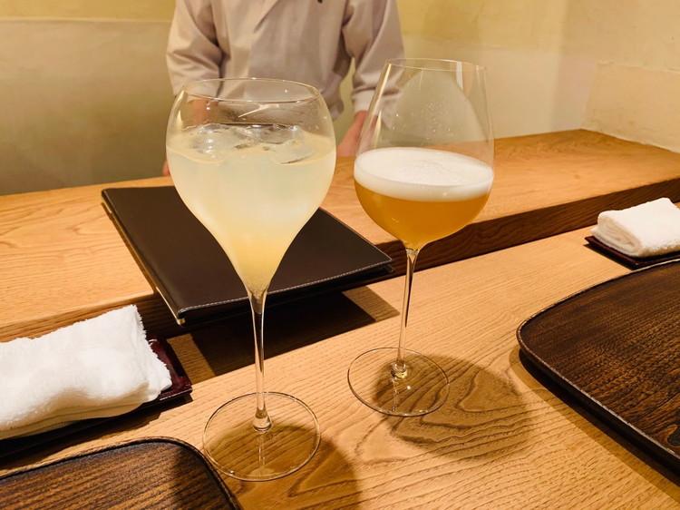 虎白 ROCOCO Tokyo WHITEと梨のお酒