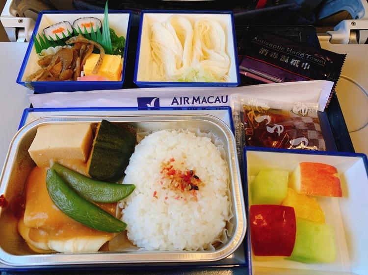 マカオ航空 機内食