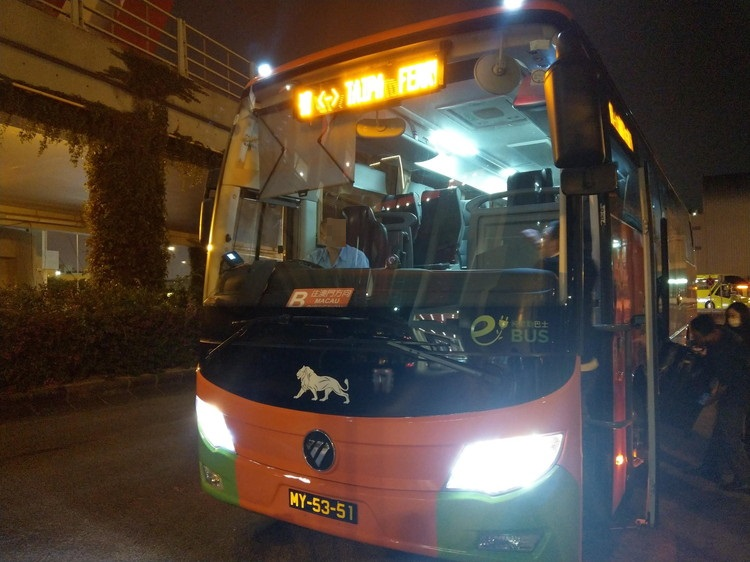 MGMマカオ行きのシャトルバス