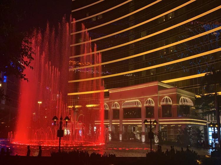 夜のマカオ散策3 噴水ショー