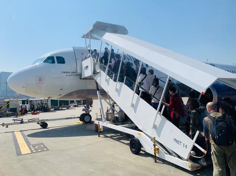 マカオ空港 飛行機への搭乗