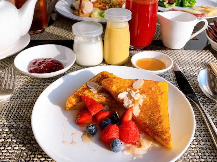 ヴィダ リカ レストラン 朝食 1日目のお皿1