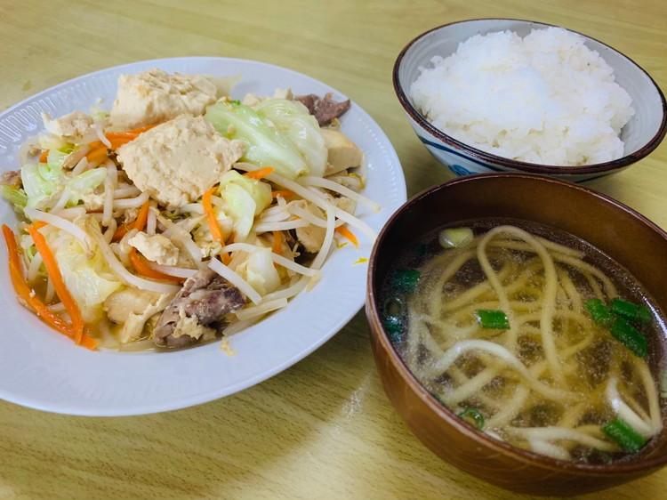菊栄食堂 豆腐チャンプルー