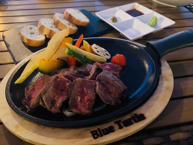 ブルータートル 宮古牛のロースステーキ