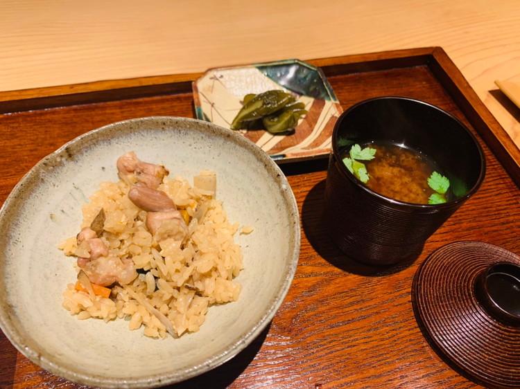 松茸と名古屋コーチンの鶏飯2