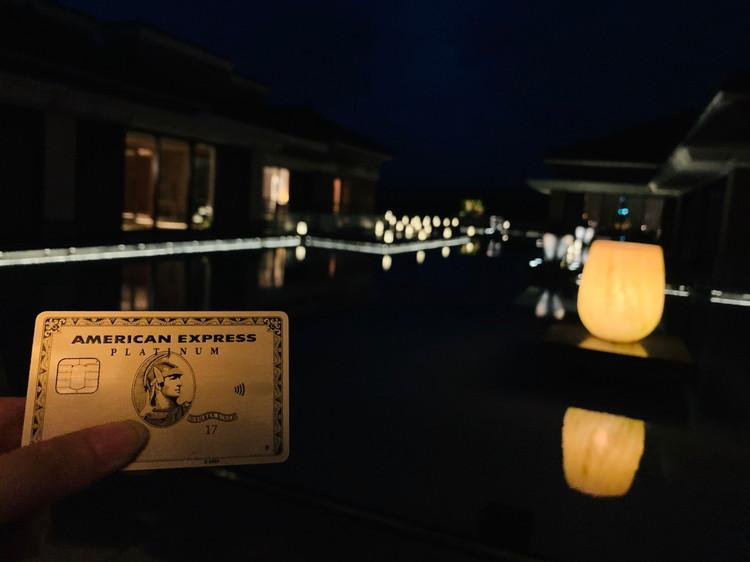 ザ・リッツ・カールトン沖縄 夜のカード撮影