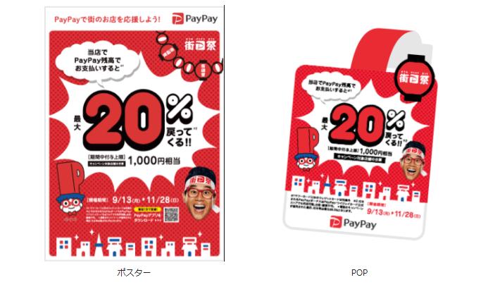 街のPayPay祭り ポスター ポップ